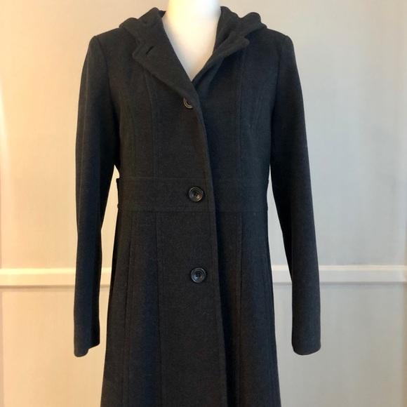 Anne Klein Jackets & Blazers - Anne Klein Dark Gray Wool Coat